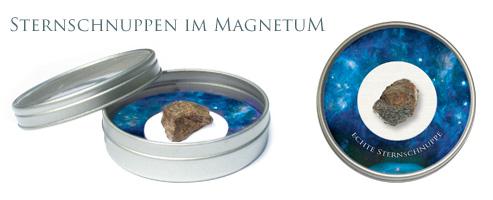 Meteoriten in Schauglas Sammlerschatulle