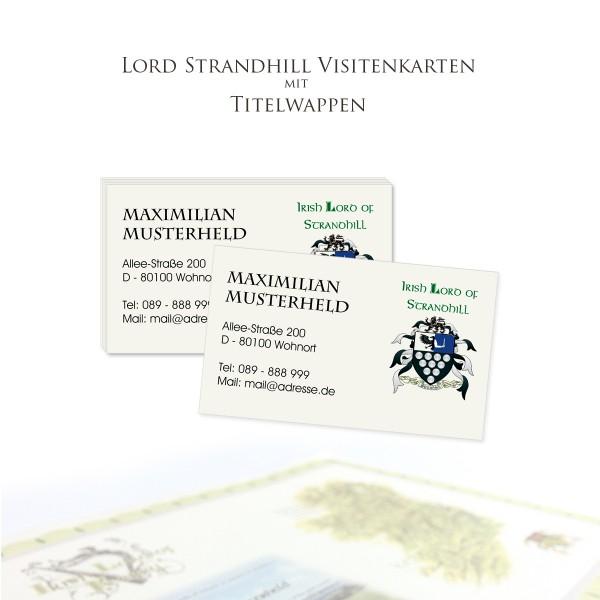 Visitenkarten Strandhill Titel