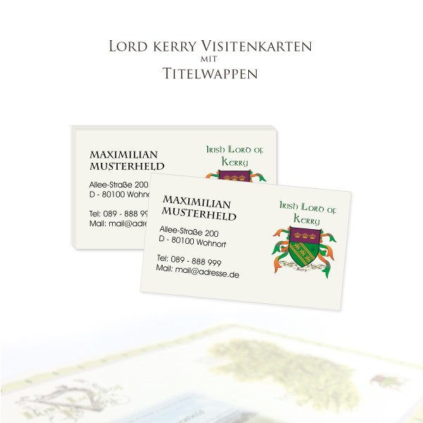 Visitenkarten Zum Titel Irish Lords