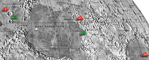 Mondgrundstück Areale auf der erdzugewandten Seite des Mondes