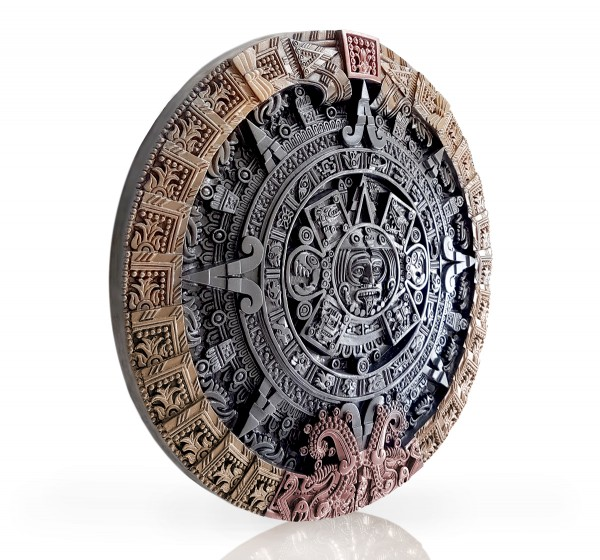 Maya Kalender Relief-Steinplatte