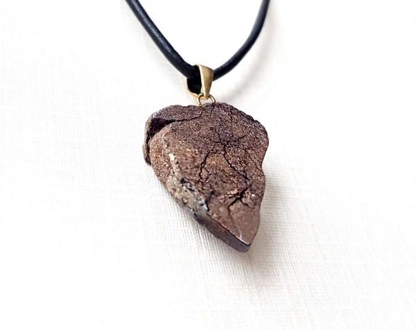 Sternenschmuck Meteorit Anhänger Scheibe