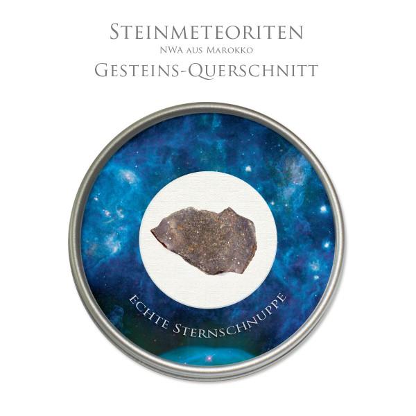 Meteorit Querschnitt