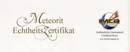 sternschnuppem mit zertifikat