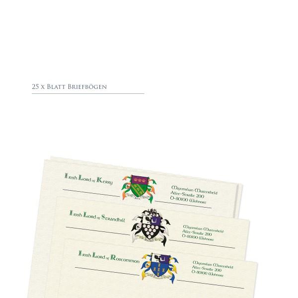Lordschaft Briefpapier 25 Blatt, personalisiert
